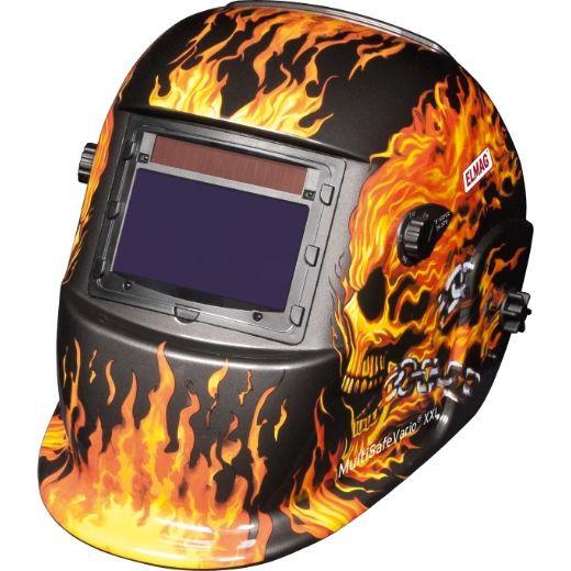 ELMAG Automatik-Kopfschweißschirm, Design 'FLAME', ELMAG MultiSafeVario, DIN 4/9-13, XXL, 56392
