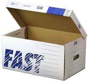 FAST Archiv-Klappdeckelbox Standard Container, aus Wellpappe, VE: 10 Stück, 100725895